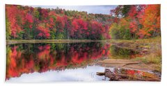 Beach Towel featuring the photograph Fall Color At The Pond by David Patterson