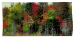 Beach Towel featuring the photograph Fall Color Panorama by David Patterson