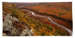 Fall Colors - Lake Of The Clouds Beach Towel