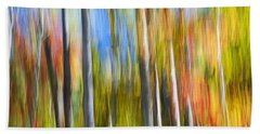 Fall Colors Abstract Beach Towel