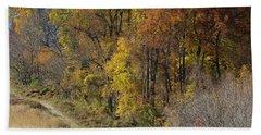 Fall Colors As Oil Beach Towel