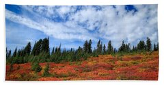 Fall Colors At Mount Rainier Beach Towel