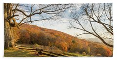 Fall Colors At The Moses Cone Estate Beach Towel