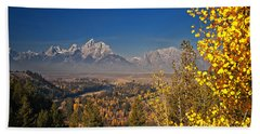 Fall Colors At The Snake River Overlook Beach Towel