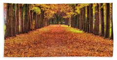 Fall Colors Avenue Beach Towel