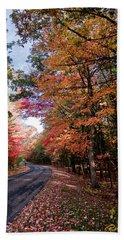 Fall Colors Backroad Beach Sheet