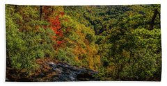 Fall Colors From The Top Of Amicolola Falls Beach Towel by Barbara Bowen
