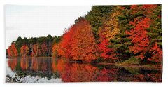 Fall Colors In Madbury Nh Beach Towel