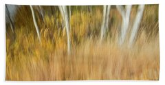 Fall Colors In Motion Beach Towel