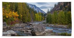 Fall Colors In The Canyon Beach Towel