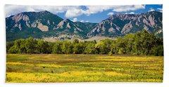 Fall Colors Of Boulder Colorado Beach Sheet