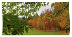 Fall Colors Of Maple Trees Beach Sheet