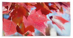 Fall Colors Oil Beach Towel