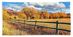 Fall Colors Sunset Colorado Beach Towel