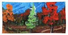 Beach Sheet featuring the painting Fall Colours #2 by Anastasiya Malakhova