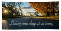 Fall Day With Saying Beach Towel
