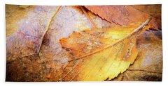 Fall Elm Leaves Beach Sheet