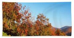 Fall Foliage And Mountains Beach Sheet
