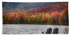 Fall Foliage At Noyes Pond Beach Towel