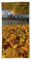 Fall Foliage In Portland Oregon City Beach Towel