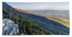 Beach Towel featuring the photograph Fall Foliage In The Blue Ridge Mountains by Lori Coleman