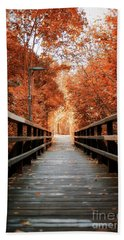 Beach Towel featuring the photograph Fall Foliage In The Heart Of Berlin by Ivy Ho
