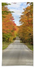 Fall Foliage On The Back Roads Of Vermont Beach Towel