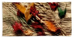 Fall Foliage Still Life Beach Sheet