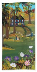 Beach Towel featuring the painting Fall Foliage by Virginia Coyle