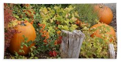 Beach Towel featuring the photograph Fall Garden by Cynthia Powell