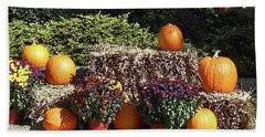 Beach Towel featuring the photograph Fall Gifts Harvest Time by Irina Sztukowski