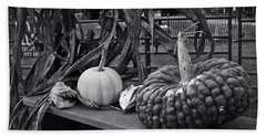 Fall Gourds Beach Sheet