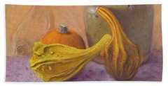 Beach Towel featuring the painting Fall Harvest #4 by Donelli  DiMaria