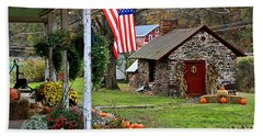 Beach Towel featuring the photograph Fall Harvest - Rural America by DJ Florek