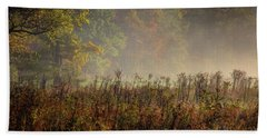 Beach Towel featuring the photograph Fall In Cades Cove by Douglas Stucky