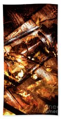 Fall In Fire Beach Towel