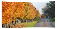 Fall In Horse Farm Country Beach Towel