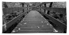 Beach Towel featuring the photograph Fall In Oregon Bw by Jonathan Davison