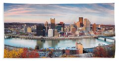 Fall In Pittsburgh  Beach Towel