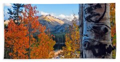 Fall In Rocky Mountain National Park Beach Towel