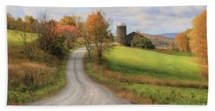 Fall In Rural Pennsylvania Beach Towel by Lori Deiter