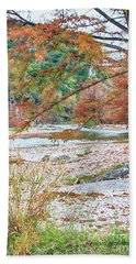Fall In Texas Hills Beach Towel