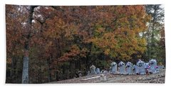 Fall In The Cemetery Beach Towel