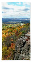 Beach Towel featuring the photograph Fall In The Mountains by Kathy Baccari