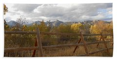 Fall In The Rockies Beach Towel by Julie Grace
