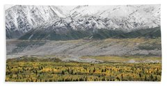 Fall In Wrangell - St. Elias Beach Towel