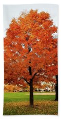 Fall Is Coming Beach Towel