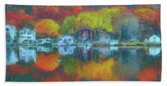 Fall Lake Beach Towel