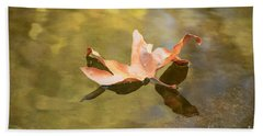 Fall Leaf Floating Beach Towel