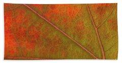 Fall Leaf Jewel Beach Towel